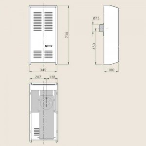 CALEFACTOR 2500 KCAL/H